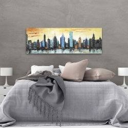 Canvas 20 x 60 - Skyline on cityscape