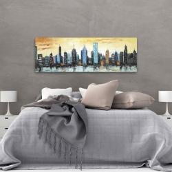 Canvas 20 x 60 - Skyline on cityscape