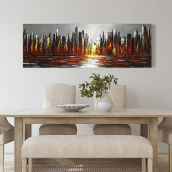 Canvas 20 x 60 - Abstract red skyline