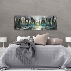 Canvas 20 x 60 - Abstract blue skyline