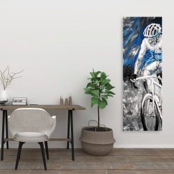 Canvas 20 x 60 - Professional blue cyclist