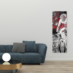Canvas 20 x 60 - Professional red cyclist