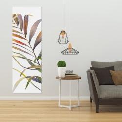 Toile 20 x 60 - Feuilles de palmiers tropicaux à l'aquarelle