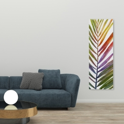 Canvas 20 x 60 - Watercolor tropical palm leave