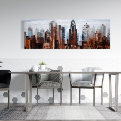 Canvas 20 x 60 - Sullen day in the city