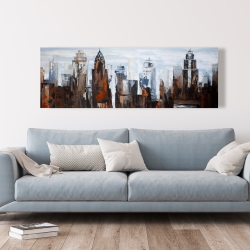 Canvas 20 x 60 - Gray day in the city