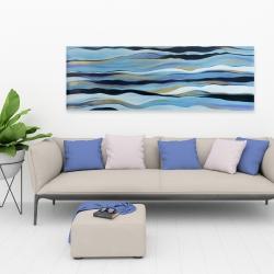 Canvas 20 x 60 - Blue sweep