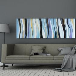 Toile 20 x 60 - Humeur bleu