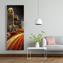 Canvas 20 x 60 - Lively city by night