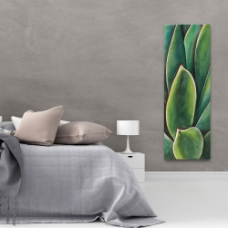 Canvas 20 x 60 - Watercolor agave plant