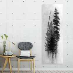 Canvas 20 x 60 - Silhouette of trees