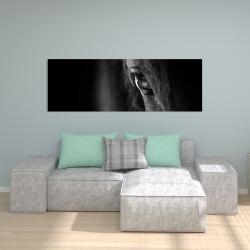 Canvas 20 x 60 - Black horse