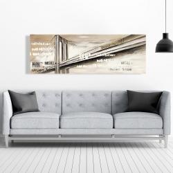 Canvas 20 x 60 - City brige