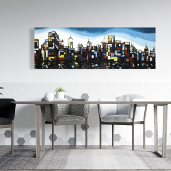 Canvas 20 x 60 - Colorful city