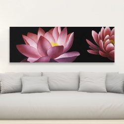 Canvas 20 x 60 - Lotus flower pattern