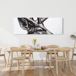 Canvas 20 x 60 - Roe deer plume