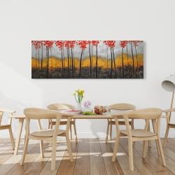 Canvas 20 x 60 - Abstract autumn trees