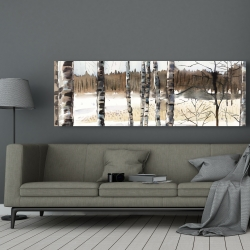 Canvas 20 x 60 - Winter swamp