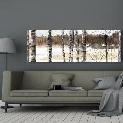 Canvas 20 x 60 - Winter swamp