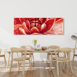 Canvas 20 x 60 - Red chrysanthemum