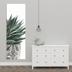 Canvas 20 x 60 - Zebra plant succulent