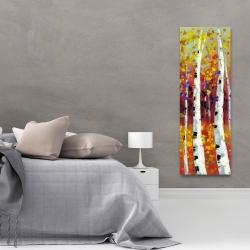 Canvas 20 x 60 - Colored birches