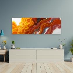 Canvas 20 x 60 - Colorful smoke