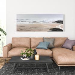 Canvas 20 x 60 - Cloudy at the beach