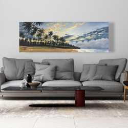 Toile 20 x 60 - Moments d'été tropical