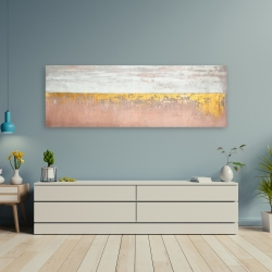 Canvas 20 x 60 - Golden pink