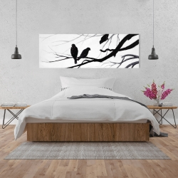 Canvas 20 x 60 - Silhouette of birds
