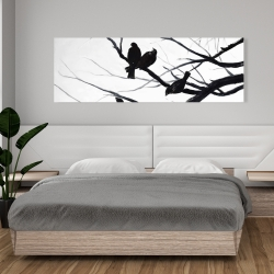 Canvas 20 x 60 - Birds and branches silhouette
