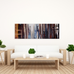 Canvas 20 x 60 - Abstract buildings