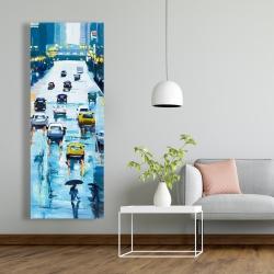 Canvas 20 x 60 - Rainy streets of new york
