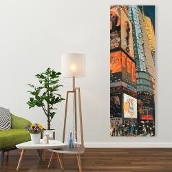Canvas 20 x 60 - Illuminated new york city street