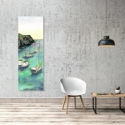 Canvas 20 x 60 - Boats in cala macarella