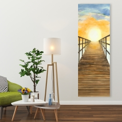 Canvas 20 x 60 - Sunset in the sea