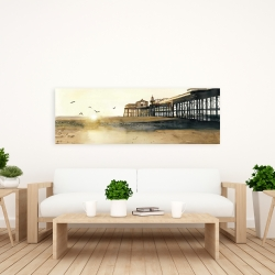 Canvas 20 x 60 - Sunset at the beach