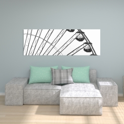 Canvas 20 x 60 - Quarter of a ferris wheel