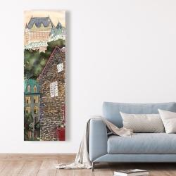 Canvas 20 x 60 - Château frontenac in the petit champlain