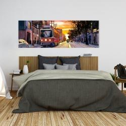 Canvas 20 x 60 - Sunset streetscape to toronto