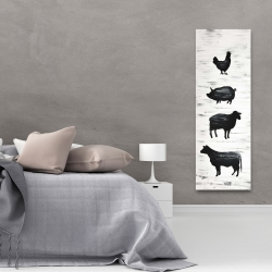 Canvas 20 x 60 - Farm animals