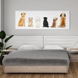 Canvas 20 x 60 - Man's best friend back view