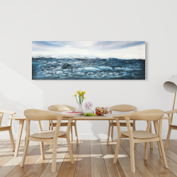 Canvas 20 x 60 - Glaciers in iceland