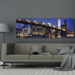 Canvas 20 x 60 - City at night