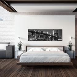Canvas 20 x 60 - City under the night