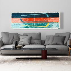 Canvas 20 x 60 - Abstract hockey sticks