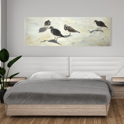 Canvas 20 x 60 - Sandpiper birds