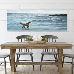 Canvas 20 x 60 - Dog on the beach