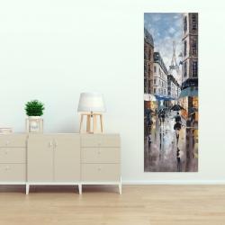Canvas 20 x 60 - Paris street blue